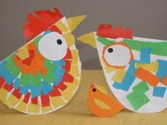 These adorable toilet paper roll Easter crafts are perfect for young kids. Spring Art Projects, Spring Crafts For Kids, Art For Kids, Farm Crafts, Easter Crafts, Diy And Crafts, Chicken Crafts, Chicken Art, Kindergarten Art Projects
