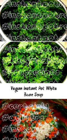 Instant Pot White Bean Soup - For a soup that fits into a plant-based diet, this recipe certainly delivers a great flavor punch! via Instant Pot White Bean Soup - For a soup that fits into a plant-based diet, this recipe certainly deliv. White Bean Soup, White Beans, Vegan V, Plant Based Diet, Vegetable Recipes, Soup Recipes, Instant Pot, Punch, Herbs