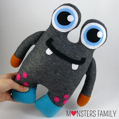 Hi, my name is Mike and I am a very friendly Monster. I am coming in three sizes: - big size - about 18x12,5 inches (45x31cm), - medium size -