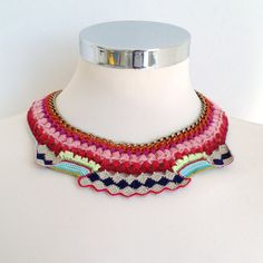 bib mexican inspired necklace. $320.00, via Etsy.  Oh...it's so lovely!