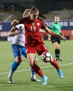 Alex Morgan vs. Russia, April 6, 2017, Toyota Stadium, Frisco. (Matthew Visinsky)