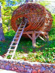 Nido per 10 persone: costo 15mila dollari. Si può affittare per una notte al Treebonesresort a Big Sur, California.