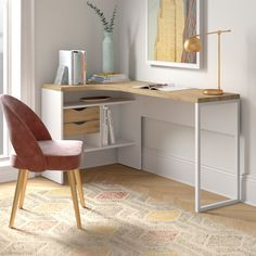 Ikea Work Desk, Small Room Desk, Desks For Small Spaces, Small L Shaped Desk, L Shaped Office Desk, Ikea L Shaped Desk, Home Office Furniture Design, Home Office Design, Small Office Storage