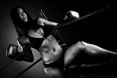 Fitness beauty Christine Chou getting ready to box