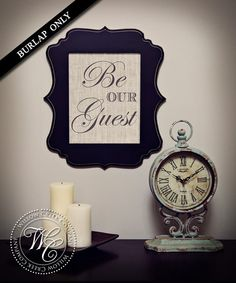 Be Our Guest Print Guest Room Decor Wedding by WillowCreekCompany, $18.00