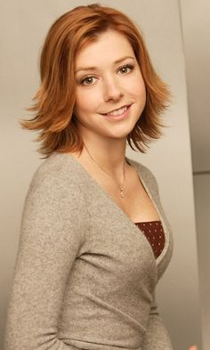 Love Alyson Hannigan's Hairstyle - she is just so FREAKIN cute!