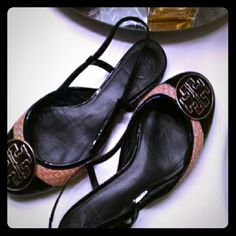 *PRICE REDUCED*  Authentic Tory Burch *PRICE REDUCED*  Great looking and comfortable! Logo medallions. Excellent condition. Sorry, no trades! Tory Burch Shoes Flats & Loafers
