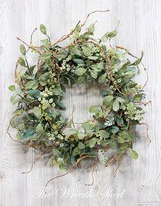 Lambs Ear Wreath Spring Wreath Year Round Wreath Gift for Fixer Upper Decor, Year Round Wreath, Greenery Wreath, Lambs Ear, How To Make Wreaths, Diy Wreath, Dried Flowers, Decoration, Farmhouse Decor