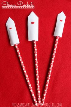 how-to-make-straw-rockets for Valentines day on FSPDT