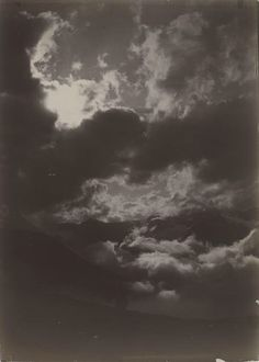 Gabriel Loppé (1825-1913) - Etude de nuage en montagne