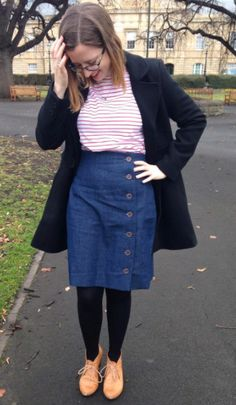 Sarah's Arielle skirt - sewing pattern by Tilly and the Buttons Skirt Sewing, Skirt Patterns Sewing, Tilly And The Buttons, Dressmaking, Women's Fashion, Lady, Skirts, Projects, Inspiration