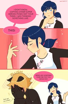 """Marichat 2 kittykichi: """" This was the piece I submitted for the Meowcraculous Chat Noir Zine! A free pdf digital version with my piece and other ones are >HERE Comics Ladybug, Meraculous Ladybug, Ladybug Cakes, Miraculous Ladybug Wallpaper, Miraculous Ladybug Fan Art, Lady Bug, Miraculous Characters, Marinette And Adrien, Cat Noir"""