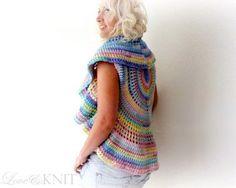 Crochet cardigan.