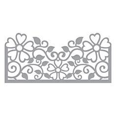 S4-915 Spellbinders TOP FLORAL PANEL Etched Dies Blooming Garden by Marisa Job zoom image