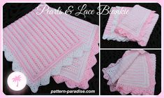 Crochet Pattern Baby Blanket Afghan Throw by ThePatternParadise, $4.99