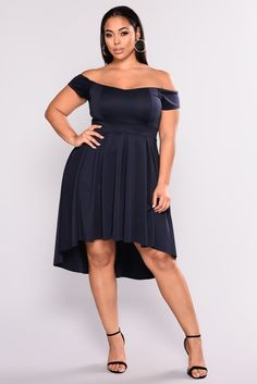 11941c35aef3 Mix And Mingle Party Dress - Navy. Curvy Women FashionPlus Size ...
