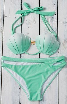 Underwire Mermaid Shell Bikini