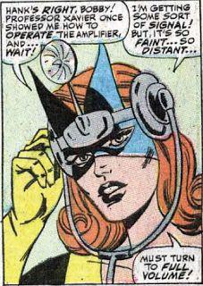 Jean Grey with the Mental Wave Amplifier. (X-Men Vol. 1 #33)