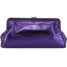 SJP by Sarah Jessica Parker Beekman Metallic Clutch Bag (4,890 MXN) ❤ liked on Polyvore featuring bags, handbags, clutches, purple, blue handbags, chain purse, purple handbags, metallic clutches and blue purse