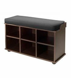 Use the Espresso Bench with Shoe Storage in your entrance way to organize your shoes purses and anything else you need as you come and go.