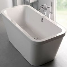 Carron Halcyon 1750mm x 800mm Square Free Standing Bath With Pop Up Waste | CABHLSQFS17085PA - Taps Today