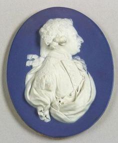 Wedgwood Dark Blue Jasper Dip Portrait Medallion of Frederick Augustus   Sale Number 2264, Lot Number 102   Skinner Auctioneers