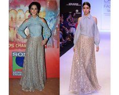 Nargis fakhri in Payal Singhal #perniaspopupshop #shopnow #celebritycloset #designer #clothing #accessories