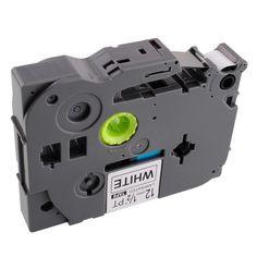 1 pack negro sobre blanco cinta de etiquetas p-touch compatible para brother tz 231 tze p-touch 12mm label maker