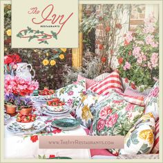 OMG...I'm in love.  Every print, every flower... The Ivy Restaurants in Los Angeles & Santa Monica