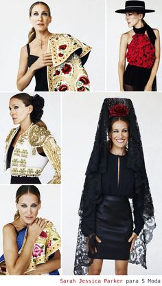 Sarah Jessica Parker, she is ruining this photo shoot, but the designs are noteworthy - S Moda