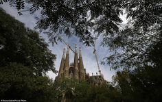 A view of the Sagrada Familia Basilica, designed by architect Antoni Gaudi