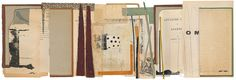 Melinda Tidwell 141220: hunting lodge 9.5 x 28 book collage on paper