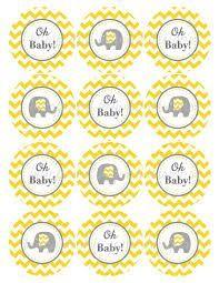 Resultado de imagen de yellow and grey baby shower free printables