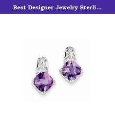 Best Designer Jewelry Sterling Silver Amethyst Earrings. Sterling Silver Amethyst Earrings Polished - Open back - Post - Sterling silver - Amethyst - Rhodium-plated Size: 0 Length: 14 Weight: 1.31 Jewelry item comes with a FREE gift box. Re-sized or altered items are not subject for a return. Sterling Silver Amethyst Earrings Product Type:Jewelry Jewelry Type:Earrings Earring Type:Drop & Dangle Material: Primary:Sterling Silver Material: Primary - Color:White Material: Primary…