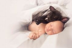 Baby and puppy were born on the same day and now think they are brothers - @nforonym