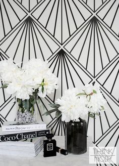 Art Deco Wallpaper, Self Adhesive Removable Wallpaper, Geometric Wall Mural