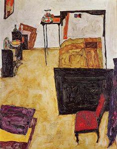 Egon Schiele; stanza; 1911: olio su tela; Wien Museum - Vienna.