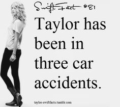 WHAT?!?! WOW! I wonder when it was if she was driving and if anyone ever got hurt!