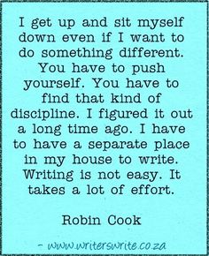 Quotable - Robin Cook - Writers Write Creative Blog