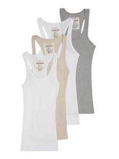 4 Pack Zenana Women's Ribbed Tank Top Large White, White, H Gray, H Beige Zenana Outfitters http://www.amazon.com/dp/B00JQG6T54/ref=cm_sw_r_pi_dp_bRYawb1Y2B0EB