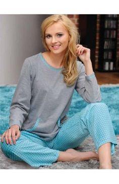 Bawełniana piżama damska Dobranocka 1105 ciemny róż :: Cottonup