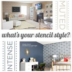 Accent walls and Stencils!  #CuttingEdgeStencils