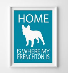 "8x10"" Frenchton Wall Art, Illustrated Dog Art, Frenchton Decor, Dog Breed Wall Art, Frenchton Dog Art, Puppy Wall Art Print, Frenchton Gift by pigknit on Etsy"