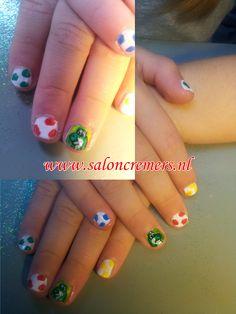 yoshi kids nail art