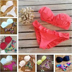 Cheap Envío gratis 2015 del triángulo de baño bikini sexy beach para mujer del traje de baño empuja hacia arriba el traje de baño traje de baño brasileño maillot de bain, Compro Calidad Conjuntos de Bikinis directamente de los surtidores de China:                 &n