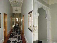 Resene Half Truffle on hall walls