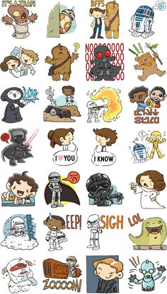 The Force Awakens with New Star Wars Stickers on Facebook