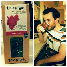 Lloyd, our SEO Assistant (and owner of Best Beard in the Building), loves a Teapig.