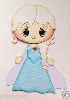 Frozen Girl Princess Elsa Paper Piecing by My Tear Bears Kira | eBay