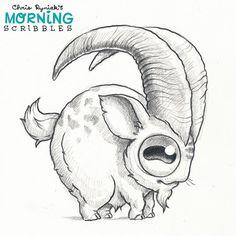 Big Horned Billy.  #morningscribbles